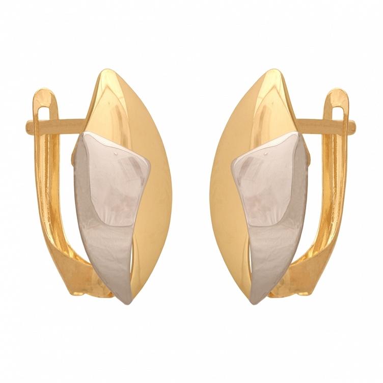 Wisorek z białego i żółtego złota