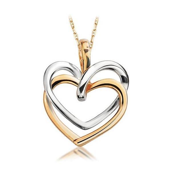 Wisiorek w kształcie serca
